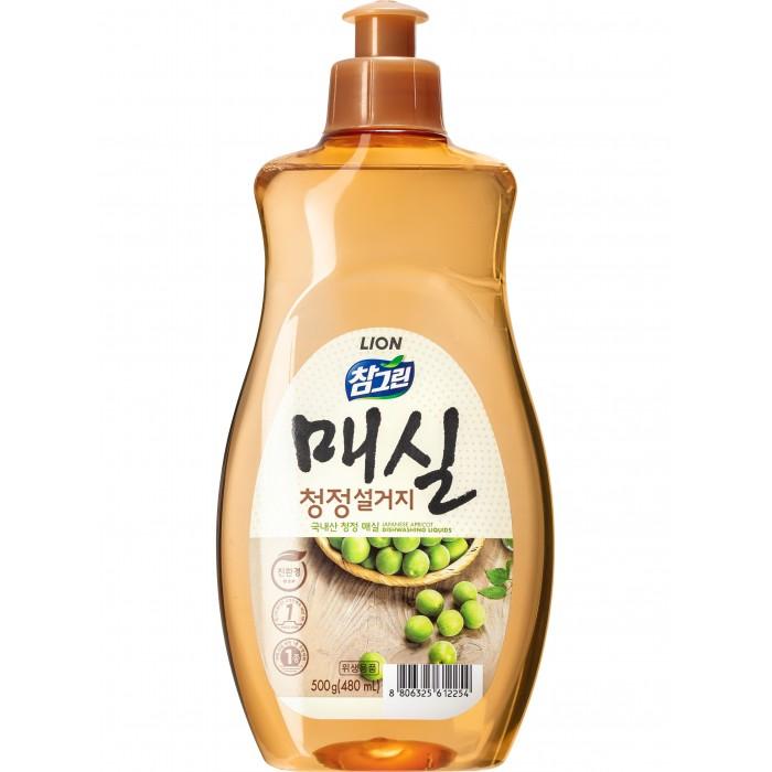 Бытовая химия CJ Lion Средство для мытья посуды Chamgreen Японский абрикос флакон 500 мл бытовая химия lion средство жидкое очарование для мытья посуды лайм 600 мл