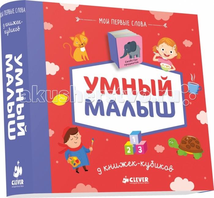 Clever 9 книжек-кубиков. Умный малыш Мои первые слова