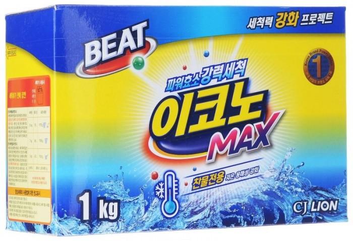 Фото Бытовая химия CJ Lion Стиральный порошок Beat Econo Max для стирки в холодной воде коробка 1 кг