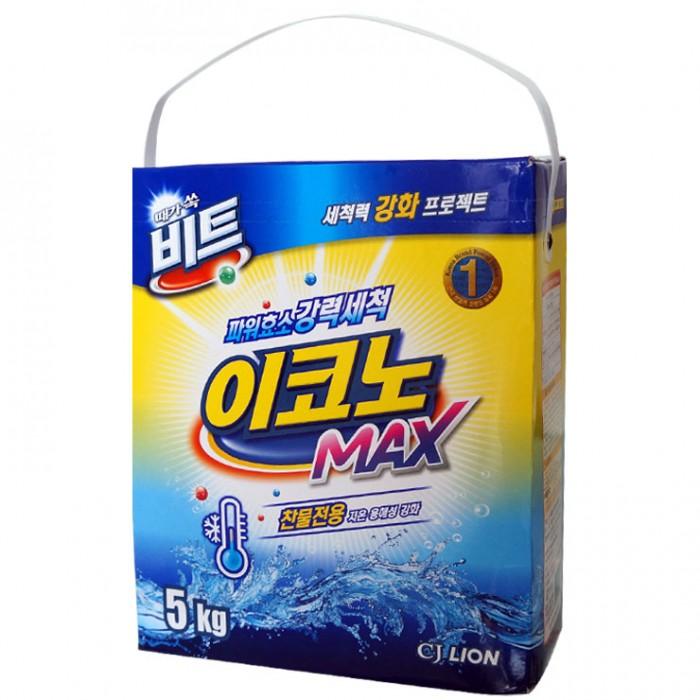 CJ Lion Стиральный порошок Beat Econo Max для стирки в холодной воде коробка 5 кг