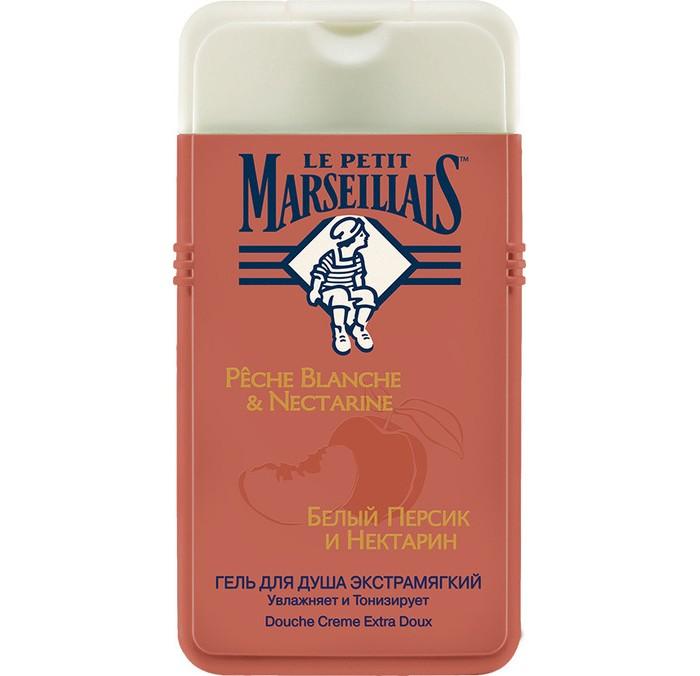 Фото Косметика для мамы Le Petit Marseillais Гель для душа Белый персик и Нектарин 250 мл