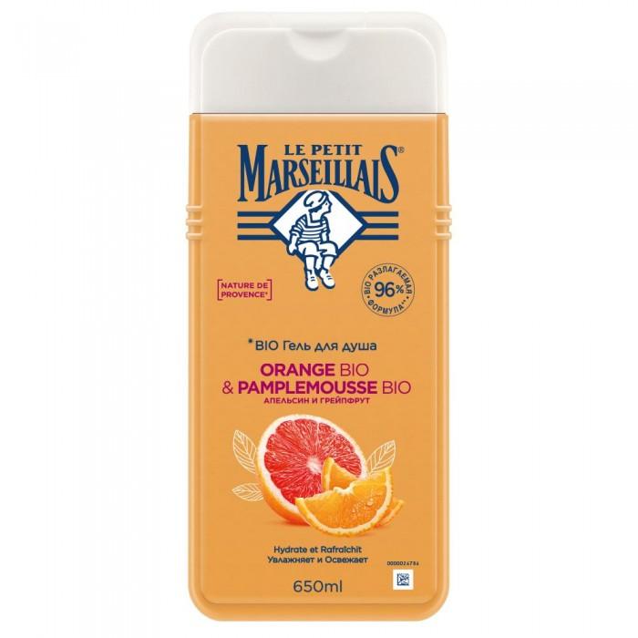 Косметика для мамы Le Petit Marseillais Гель-пена для душа Грейпфрут и апельсин 650 мл косметика для мамы vitamin гель для душа 5 ягод 650 мл