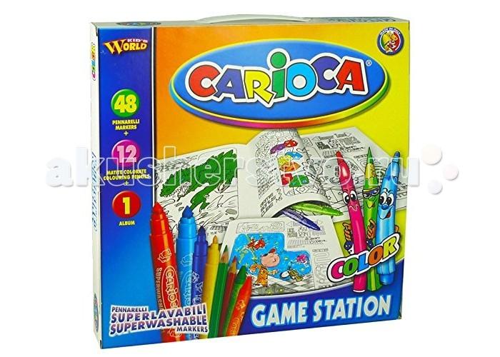 Творчество и хобби , Наборы для творчества Carioca Набор для рисования GAME STATION 61 предмет арт: 148823 -  Наборы для творчества