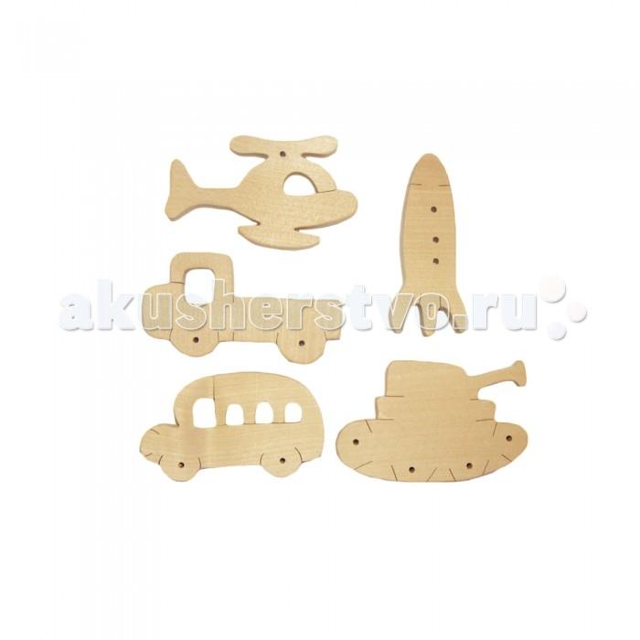Деревянные игрушки Деревяшкино Набор Транспорт 1 набор для детского творчества набор веселая кондитерская 1 кг