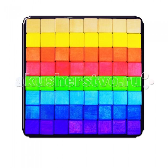 Деревянная игрушка Деревяшкино Геометрические фигуры МД 64 деталиГеометрические фигуры МД 64 деталиГеометрические фигуры МД (разные)  Развивающая деревянная головоломка-конструктор (средней степени сложности) подходит для мальчиков и девочек в возрасте от 3 лет, состоит из 64 деталей.   Можно раскладывать фигуры в заданной последовательности: круг, треугольник, квадрат; составлять объемные башенки из брусков, плоские картинки из кругов или квадратов разного размера, елки — из треугольников. Собирать фигуры одного цвета или одного размера.  Дети знакомятся с названиями, характерными признаками и формой геометрических фигур.  Развивают координацию, фантазию, пространственное мышление, обучают элементарным вещам: почему что-то стоит, а что-то падает и т.д.  Экологически чистый продукт: изготовлено вручную из массива березы. Игрушка раскрашена пищевой водостойкой краской, что делает взаимодействие с изделием абсолютно безопасным: никаких лаков, «химии» или добавок.<br>