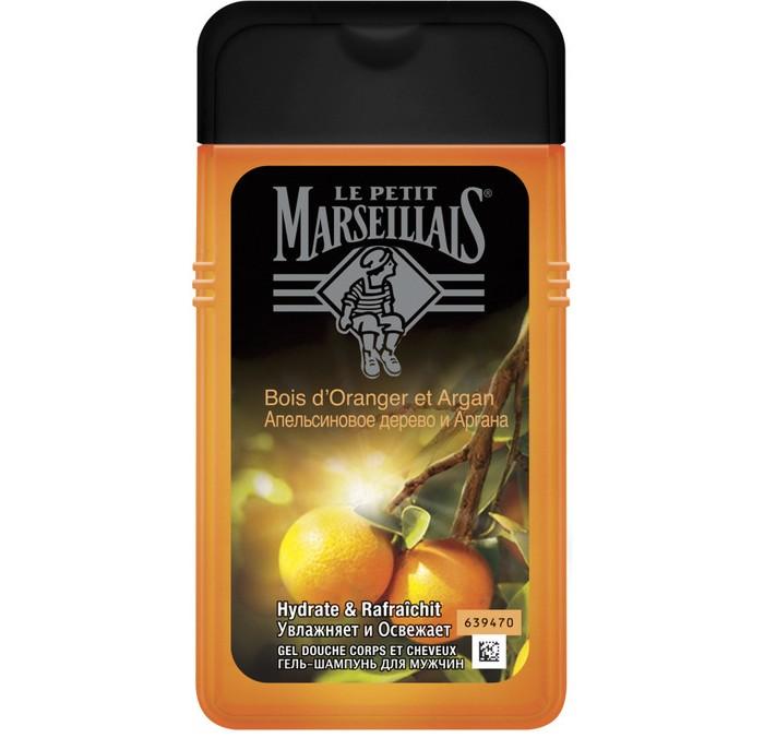 Косметика для мамы Le Petit Marseillais Гель-шампунь Апельсиновое дерево и Аргана для мужчин 250 мл le petit marseillais гель для душа цветок апельсинового дерева 250 мл