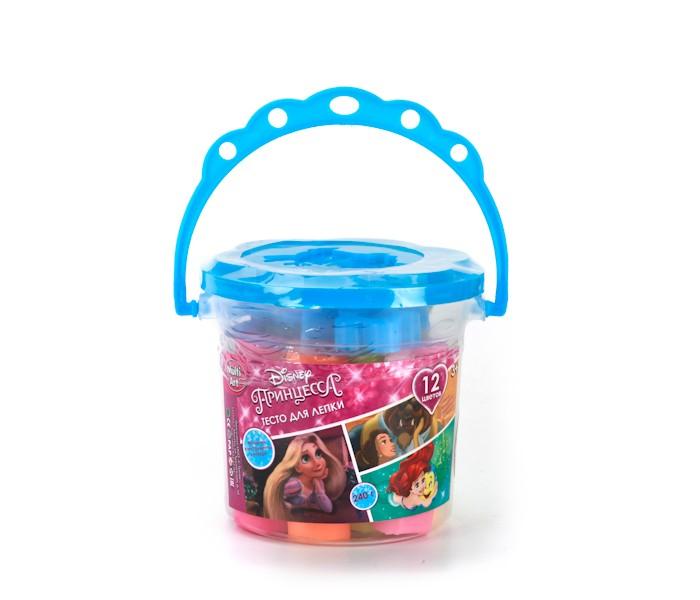 Всё для лепки Multiart Тесто для лепки Принцессы Disney 12 цветов мелки multiart disney тачки 12 шт