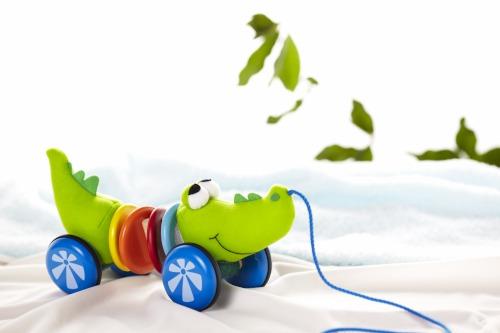 Купить Каталки-игрушки, Каталка-игрушка Wonderworld Каталка Крокодил