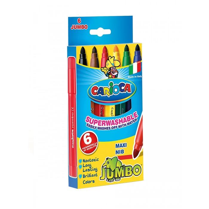 Фломастеры Carioca JUMBO 6 цветов в картонной коробке фонарь maglite led светодиод 2d синий 25 см в картонной коробке 947233