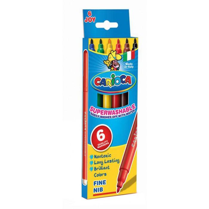 Фломастеры Carioca JOY 6 цветов в картонной коробке набор фломастеров carioca acquarell 12 цв в картонной коробке с европодвесом
