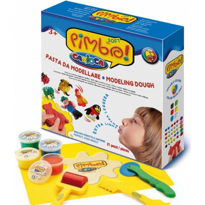 Carioca Набор для лепки PIMBO SOFTНабор для лепки PIMBO SOFTНабор для лепки PIMBO SOFT надолго поможет занять вашего ребенка таким полезным занятием, как лепка. Работа пальчиками во время лепки способствует развитию мелкой моторики, образного мышления и фантазии.  Набор состоит из 21 предмета: масса 6 цветов в баночках с плотно закрывающейся крышкой удобный коврик валик формочки пластиковые ножи  Для создания массы применяются нетоксичные ингредиенты высокого качества. Изделия из такой массы высыхают примерно за 24 часа.<br>