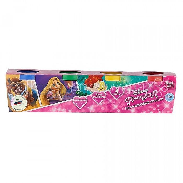 Краски Multiart Пальчиковые краски Принцессы Disney 4 цвета multiart пальчиковые краски disney принцессы