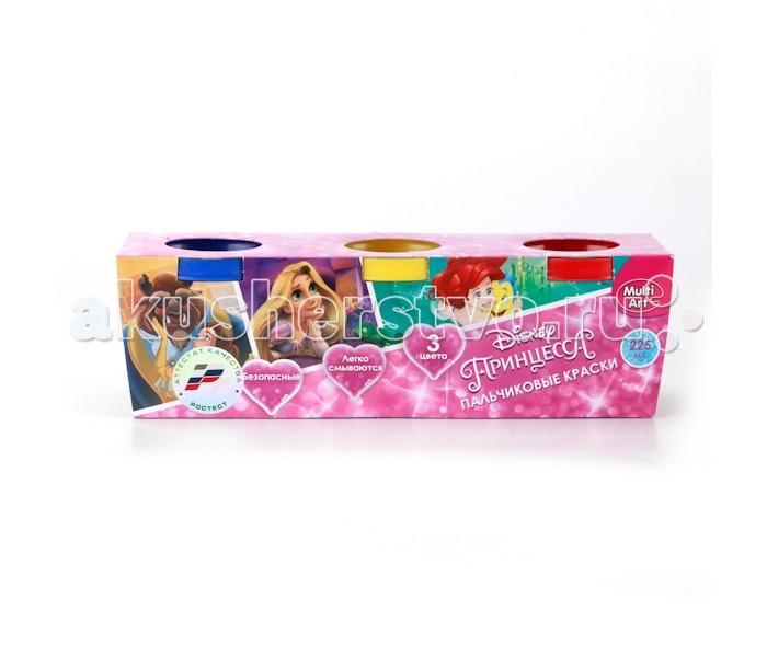 Краски Multiart Пальчиковые краски Принцессы Disney 3 цвета multiart пальчиковые краски disney принцессы