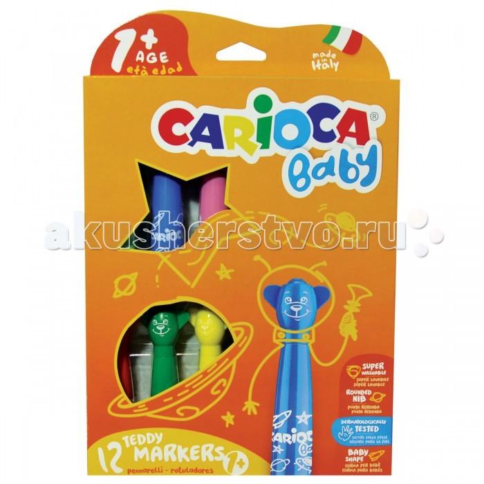 Развитие и школа , Фломастеры Carioca BABY JUMBO суперсмываемые 12 цветов арт: 149831 -  Фломастеры