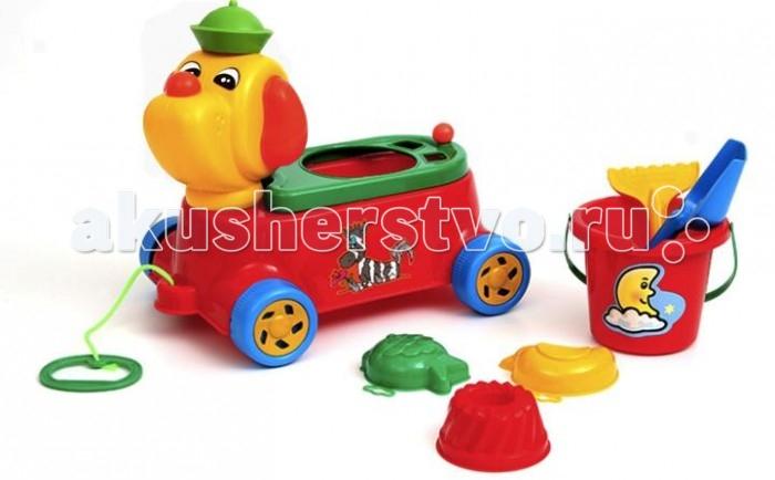 Каталка-игрушка Wieslaw Suchanek песик с песочным набором