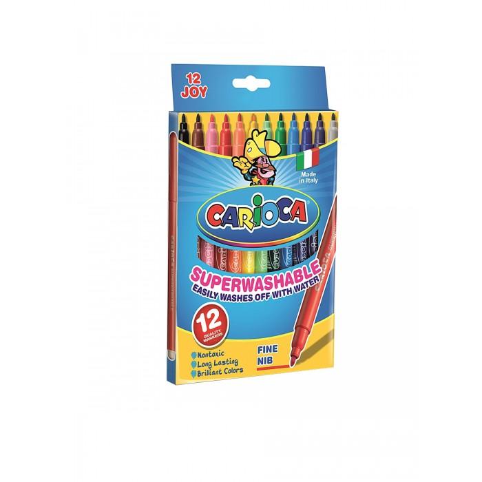 Фломастеры Carioca JOY 12 цветов в картонной коробке фонарь maglite led светодиод 2d синий 25 см в картонной коробке 947233