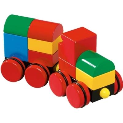 Деревянная игрушка Brio Конструктор из кубиков на магнитах ПоездКонструктор из кубиков на магнитах ПоездКлассические яркие деревянные геометрические фигуры для постройки игрушечного поезда (11 элементов).  Внутри геометрических фигур находятся магниты, которые придают устойчивость всей конструкции и облегчают сборку поезда.  Размер деревянной игрушки: 198 x 78 x 91 мм<br>