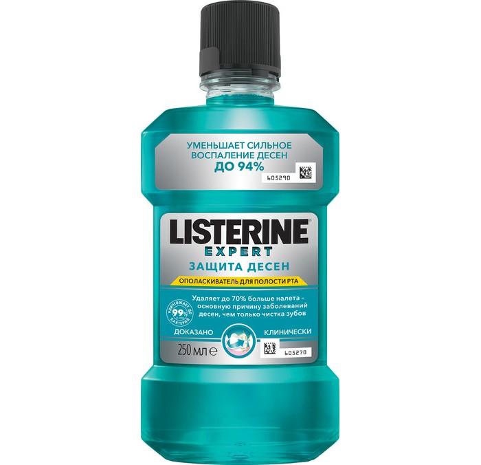 Гигиена полости рта Listerine Ополаскиватель для полости рта Защита десен 250 мл гигиена полости рта listerine ополаскиватель для полости рта свежая мята 500 мл