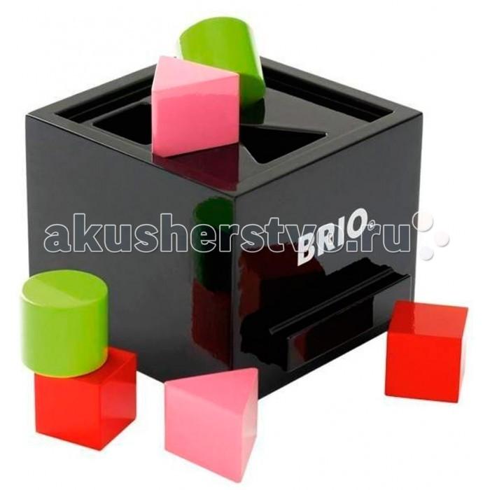 Сортер Brio Сортер с кубикамиСортер с кубикамиКлассическая игрушка для малышей для изучения основных геометрических форм. (7 элементов) Размер: 13х11х14см<br>