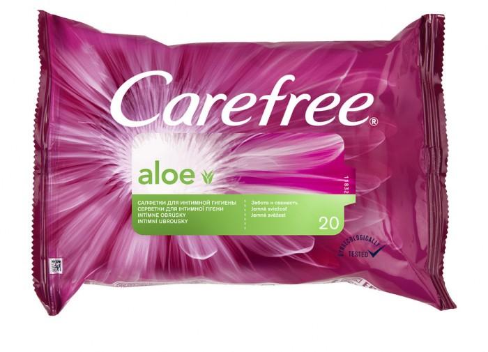 купить Гигиена для мамы Carefree Салфетки влажные с Алоэ для интимной гигиены 20 шт. дешево