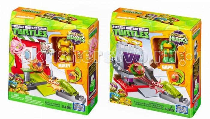 Конструкторы Mega Bloks Mattel Черепашки-малыши: Маленький игровой набор конструкторы mega bloks mattel черепашки ниндзя схватка в пиццерии 129 деталей