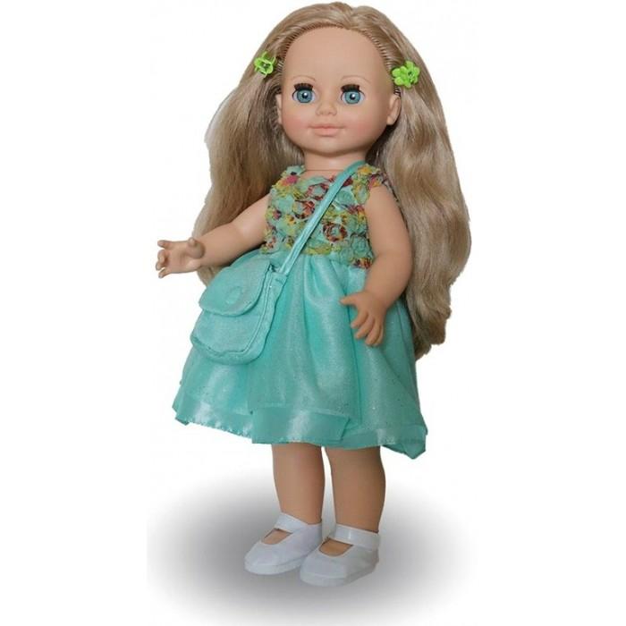 Весна Кукла Анна 17 со звуковым устройством 42 смКукла Анна 17 со звуковым устройством 42 смАнна 17 со звуковым устройством отличает новый, непохожий на других кукол, образ.   Это очаровательная кукла-девочка с открытым взглядом, пушистыми ресницами, обаятельной улыбкой и роскошными волосами.   На кукле надеты: нарядное платье из шёлка, жёсткой сетки и кружевного полотна, туфли. Из аксессуаров – заколки-крабики для волос и сумка из кружевного полотна и шёлка.  Игровые возможности куклы: прекрасные длинные волосы, похожие на натуральные, можно завивать, расчёсывать и укладывать в разные причёски, меняя образ куклы. При нажатии на звуковое устройство она произносит фразы, побуждающие к действию. Она умеет закрывать глазки, её можно укладывать спать. Продуманная конструкция позволяет легко сажать, ставить на ножки, переодевать. Дополнительно к кукле можно приобрести комплект одежды.   Технические характеристики: кукла полностью выполнена из современного материала винила. Длина волос – 24 см. Глаза вставные закрывающиеся. Высота 42 см. Кукла озвучена.<br>