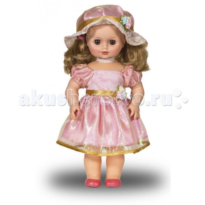 Весна Кукла Инна 48 со звуковым устройством 43 смКукла Инна 48 со звуковым устройством 43 смИнна 48 со звуковым устройством из серии «Моя любимая кукла» может стать настоящей подружкой для ребёнка. В комплект одежды куклы входит: болеро и берет из ворсового трикотажа, сарафан из хлопка.   Комплект дополняют туфли.   Игровые и дидактические возможности куклы: при нажатии на звуковое устройство, вставленное в спинку, кукла произносит фразы. Наличие элементов одежды, которые легко снимаются и надеваются, разнообразит возможности сюжетно-ролевых игр с этой куклой, в процессе которых развивается мелкая моторика и творческое воображение ребёнка.   Прекрасные прошитые волосы из качественного нейлона похожи на натуральные. Их можно завивать, расчёсывать, укладывать в разные причёски, меняя образ куклы.   Рост куклы 43 см. Кукла Инна Весна 48 озвучена. Глаза вставные закрывающиеся. Тело куклы пропорционально. Ручки и голова выполнены из эластичного, приятного на ощупь винила, а туловище и ноги из пластмассы.   Дополнительно к кукле можно приобрести комплект одежды.  Кукла произносит следующие фразы:  -Теперь ты моя подруга. -Ты не забыла - сегодня мы идем на праздник. -Нам нужно быть красивыми. -Сделай мне прическу! -Получилось очень красиво! -Теперь себе. -Не забудь про маникюр. -А нарядное платье? -Мы сегодня самые красивые!<br>