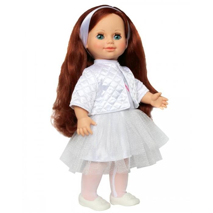 Весна Кукла Анна 7 со звуковым устройством 42 смКукла Анна 7 со звуковым устройством 42 смКукла Анна 7 со звуковым устройством 42 см отличает новый, непохожий на других образ. Это очаровательная кукла - девочка с открытым взглядом, пушистыми ресницами, обаятельной улыбкой и роскошными волосами. В комплект одежды куклы праздничной коллекции входит: платье из трикотажа и шёлка с короткими рукавами, воротником-стойкой, застёжкой сзади. Юбка платья состоит из двух частей: верхней и нижней. Спереди на платье вышивка «Стрекоза». Колготки из сетки-стрейч, болеро из атласного термосинтепона с подкладом из шёлка. На голове у куклы ободок из атласной ленты. На ножках модные туфли-балетки.Производитель оставляет за собой право изменения цветовой гаммы одежды и волос куклы, цвет глаз может варьироваться.   Игровые возможности куклы: прекрасные длинные волосы, похожие на натуральные, можно завивать, расчёсывать и укладывать в разные причёски, меняя образ куклы. При нажатии на звуковое устройство она произносит фразы, побуждающие к действию. Она умеет закрывать глазки, её можно укладывать спать. Продуманная конструкция позволяет легко сажать, ставить на ножки, переодевать. Дополнительно к кукле можно приобрести комплект одежды. Также к ней подходит одежда куклы Инна Весна.   Технические характеристики: кукла полностью выполнена из современного материала винила. Длина волос – 24 см. Глаза вставные закрывающиеся. Высота 42 см. Кукла озвучена, говорит следующие фразы:  «Теперь ты моя подруга. Ты не забыла - сегодня мы идем на праздник? Нам нужно быть красивыми. Сделай мне прическу! Получилось очень красиво! Теперь себе. Не забудь про маникюр! А нарядное платье? Мы сегодня самые красивые!».<br>