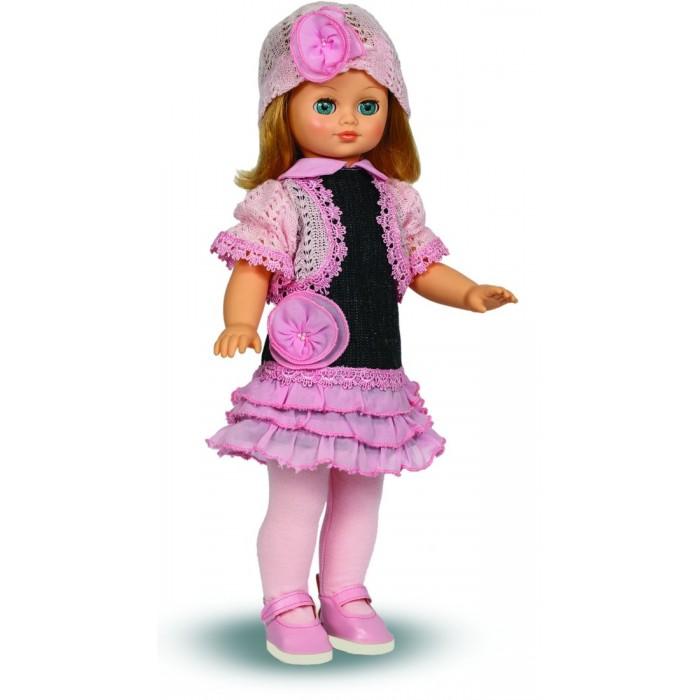 Весна Кукла Лиза 17 со звуковым устройством 42 смКукла Лиза 17 со звуковым устройством 42 смКукла Лиза 17 со звуковым устройством 42 см из серии «Моя любимая кукла» может стать настоящей подружкой для ребёнка. В комплект одежды для куклы входит: вязаная шапочка и болеро, сарафан, колготки из трикотажа. Комплект дополняют туфли.Производитель оставляет за собой право изменения цветовой гаммы одежды и волос куклы, цвет глаз может варьироваться.   Игровые и дидактические возможности куклы: при нажатии на звуковое устройство, вставленное в спинку, кукла произносит фразы. Наличие элементов одежды, которые легко снимаются и надеваются, разнообразит возможности сюжетно-ролевых игр с этой куклой, в процессе которых развивается мелкая моторика и творческое воображение ребёнка.   Прекрасные прошитые волосы из качественного нейлона, похожие на натуральные, можно завивать, расчёсывать, укладывать в разные причёски, меняя образ куклы.   Рост куклы 42 см. Кукла Лиза Весна 17 озвучена. Глаза вставные закрывающиеся. Тело куклы пропорционально. Ручки и голова выполнены из эластичного, приятного на ощупь винила, а туловище и ноги из пластмассы.   Дополнительно к кукле можно приобрести комплект одежды.  Кукла произносит следующие фразы:  -Привет! Давай потанцуем. -Я люблю музыку. -Возьми меня за ручки. -Покружись со мной. -Как здорово! -А сейчас спой мне песенку. -А другую песенку… -Мне очень нравится!<br>