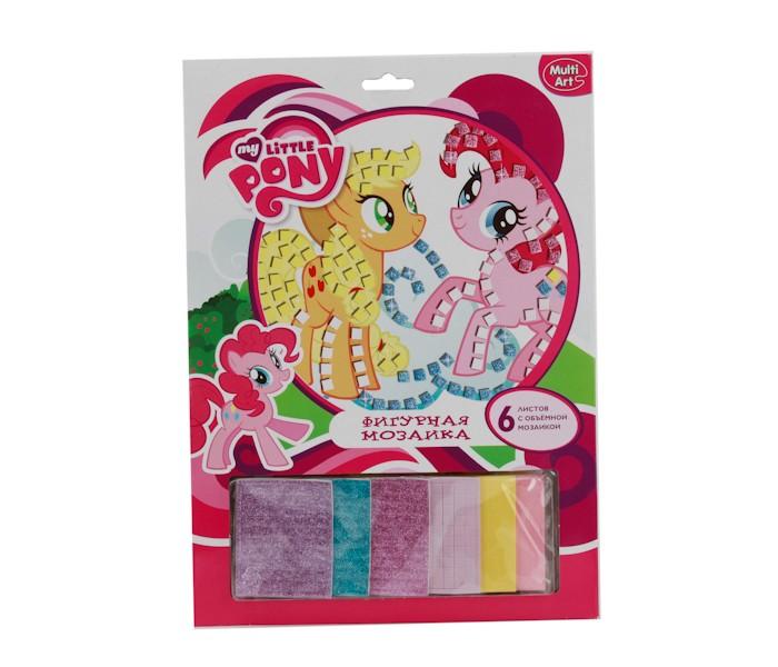 Наборы для творчества Multiart Фигурная мозаика со стразами My Little Pony мозаики multiart набор для творчества объемная мозаика my little pony