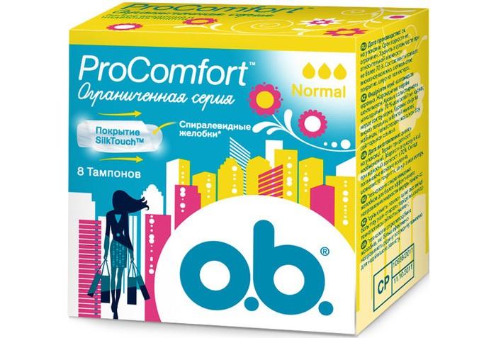 Гигиена для мамы o.b. Тампоны ProComfort нормал 8 шт. тампоны ов procomfort супер плюс 16шт