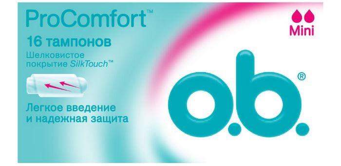 Гигиена для мамы o.b. Тампоны ProComfort Mini 16 шт.