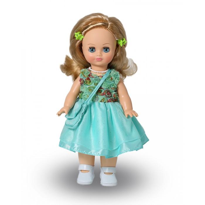 Весна Кукла Элла 11 со звуковым устройством 35 смКукла Элла 11 со звуковым устройством 35 смКукла Элла 11 со звуковым устройством 35 см может стать настоящей подружкой для ребёнка. В комплект одежды куклы входит: нарядное платье из кружевного полотна, шёлка и жёсткой сетки. Комплект дополняют туфли с ремешком и застёжкой на «Велкро» и сумочка из кружевного полотна и шёлка. Производитель оставляет за собой право изменения цветовой гаммы одежды и волос куклы, цвет глаз может варьироваться. Игровые и дидактические возможности куклы: при нажатии на звуковое устройство, вставленное в спинку, кукла произносит фразы. Наличие элементов одежды, которые легко снимаются и надеваются, аксессуара-сумочки разнообразит возможности сюжетно-ролевых игр с этой куклой, в процессе которых развивается мелкая моторика и творческое воображение ребёнка.   Прекрасные прошитые волосы из качественного нейлона, похожие на натуральные, можно завивать, расчёсывать, укладывать в разные причёски, меняя образ куклы.   Рост куклы 35 см. Кукла озвучена. Глаза вставные закрывающиеся. Тело куклы пропорционально. Ручки и голова выполнены из эластичного, приятного на ощупь винила, а туловище и ноги из пластмассы.<br>