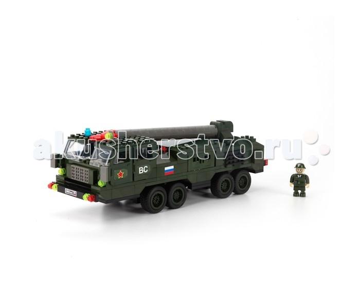 Конструкторы Город мастеров МАЗ-353 с ракетой (280 деталей)