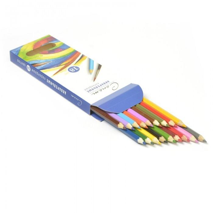 Карандаши, восковые мелки, пастель Сонет Набор акварельных карандашей 18 цветов карандаши 18 цветов деревянные cuya 2926 18