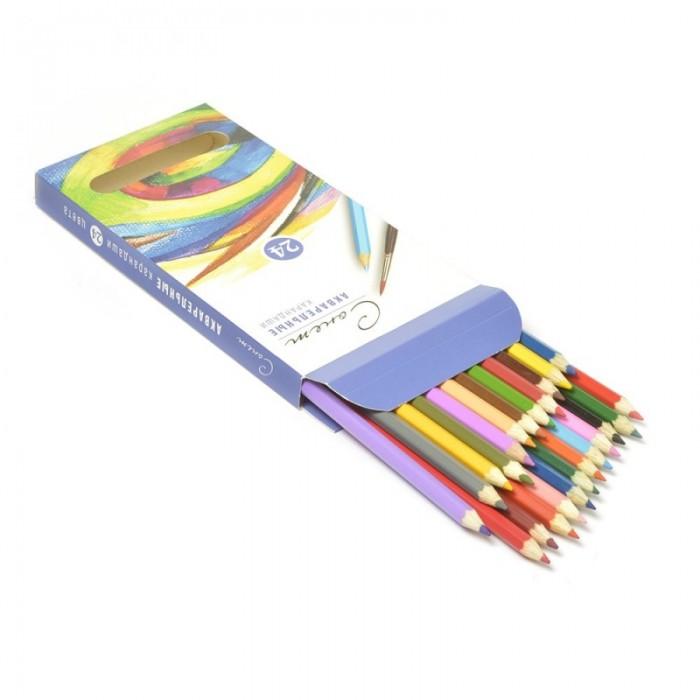 Карандаши, восковые мелки, пастель Сонет Набор акварельных карандашей 24 цвета дневник для музыкальной школы хатбер 48 листов а5 рисунки чернилами твердая обложка