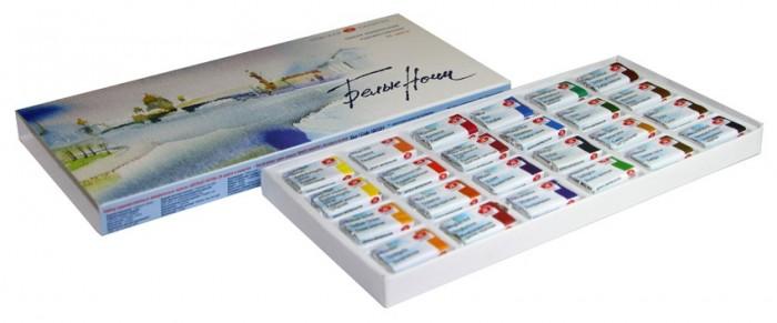Краски Невская палитра Белые Ночи Акварель картонная упаковка 24 цвета кюветы 2,5 мл graphic print tank top