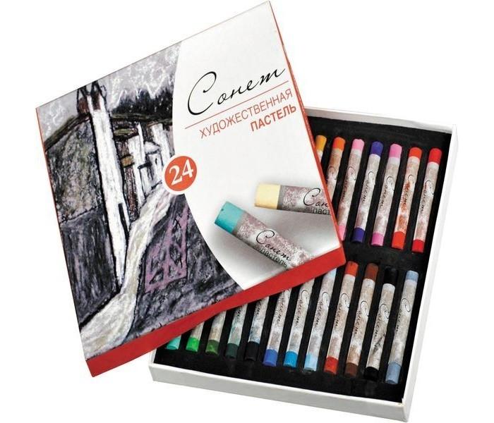 Карандаши, восковые мелки, пастель Сонет Пастель художественная 24 цвета карандаши восковые мелки пастель сонет пастель художественная 48 цветов