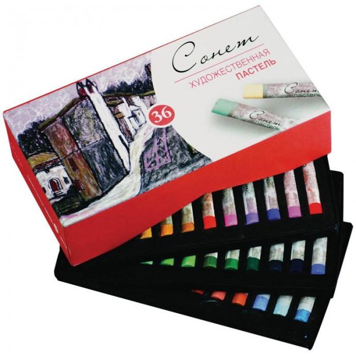 Карандаши, восковые мелки, пастель Сонет Пастель художественная 36 цветов