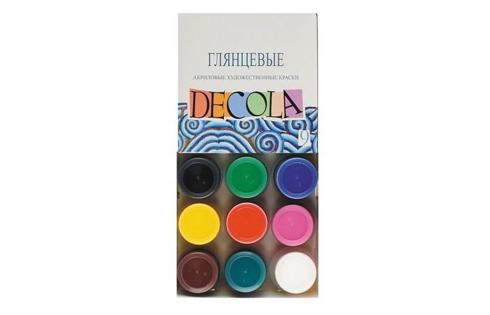 Краски Decola Акрил глянцевый 9 цветов банка 20 мл decola перламутровые акриловые художественные краски 6 цветов