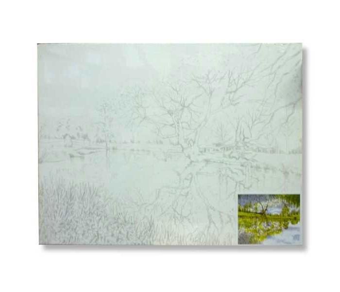 Раскраски Невская палитра Холст на картоне Пейзаж 30х40 см холст 30х40 маки и сирень х 6171