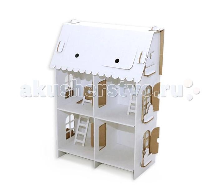 Кукольные домики и мебель Картонный папа Кукольный домик из картона Четыре комнаты картонный папа домик из картона мини домик картонный папа