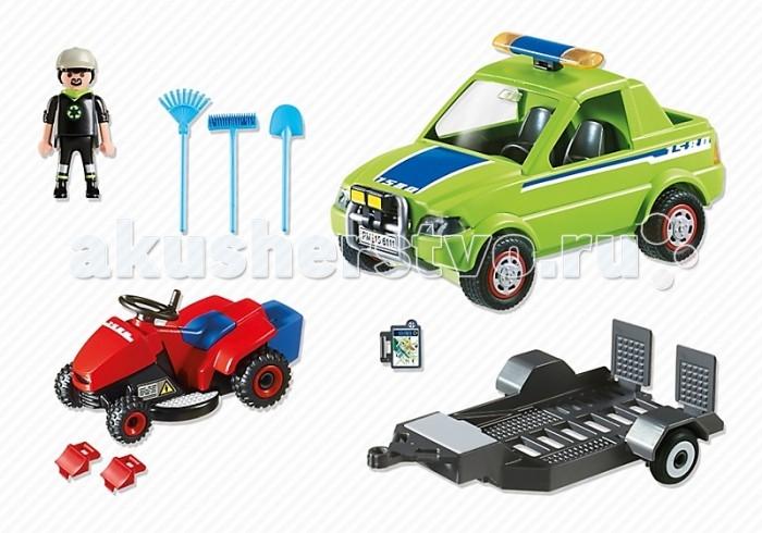 Конструктор Playmobil Городские службы: Автомобиль с колесной газонокосилкой
