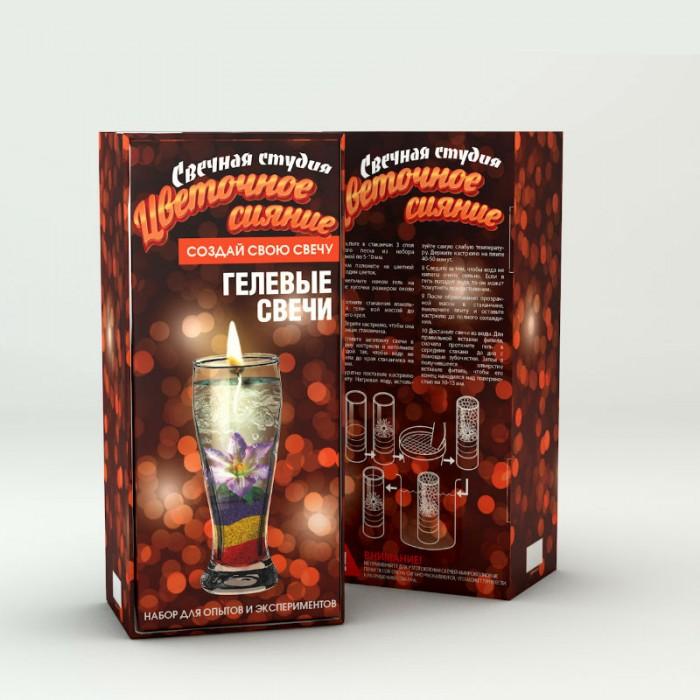 Наборы для творчества Инновации для детей Свечная студия набор для создания гелевых свечей Цветочное сияние