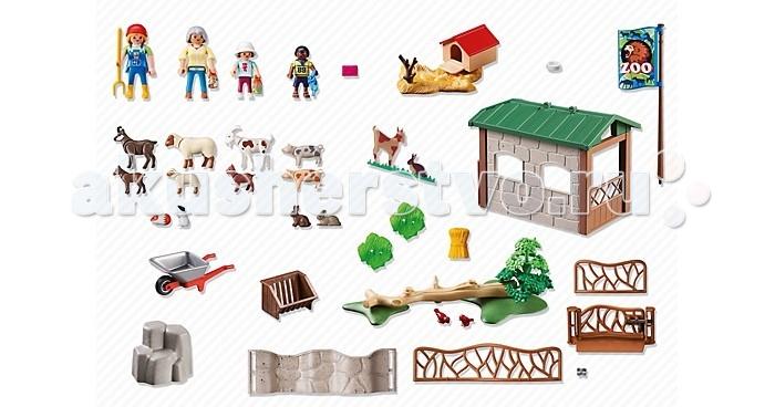 Конструкторы Playmobil Зоопарк: Детский контактный зоопарк playmobil игровой набор мой большой зоопарк