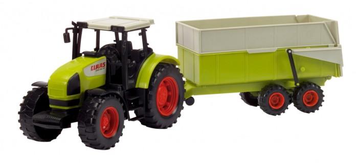 Машины Dickie Трактор с прицепом 1/6 57 см машины tomy john deere трактор monster treads с большими колесами и вибрацией