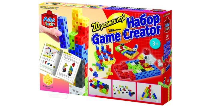 Конструкторы Знаток Artec Game Creator 20 логических игр в картонной коробке 130 деталей фонарь maglite 2d синий 25 см в картонной коробке 947191