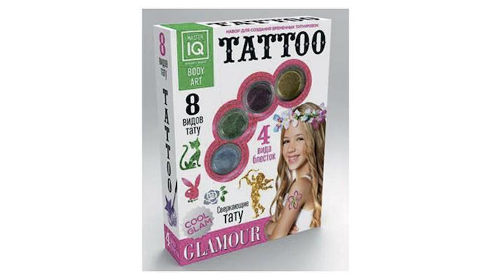 Наборы для творчества Каррас Игровой набор для временных татуировок Glamour набор для творчества master iq создание временных татуировок тату party 8 видов тату с009