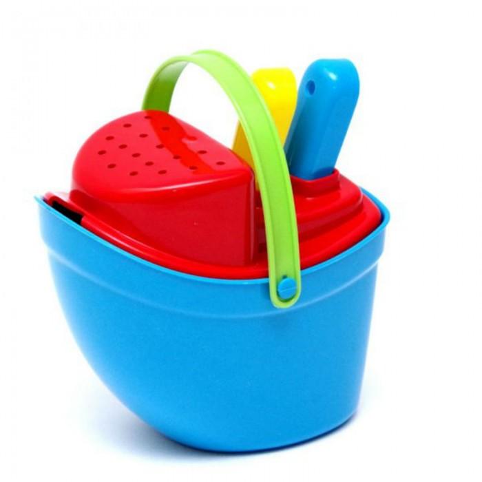 Игрушки в песочницу Karolina Toys Песочный набор Пароходик игрушки для ванны tolo toys набор ведерок квадратные