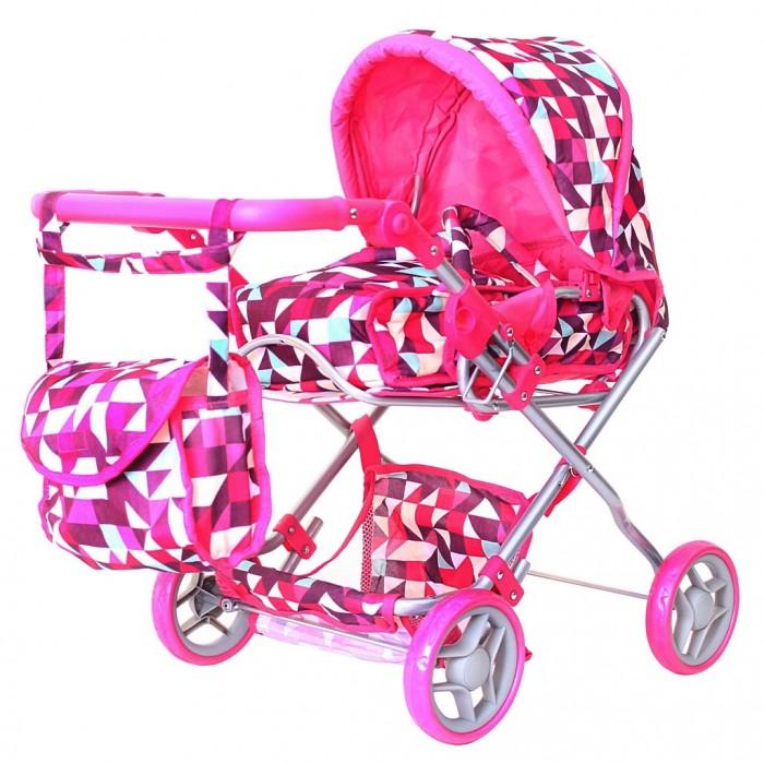 Коляска для куклы R-Toys 9663-19663-1Необыкновенно яркая коляска 9663-1 с современным рисунком для кукол с люлькой-переноской и сумочкой для юной мамы. Эта закрытая коляска с большим капюшоном выглядит как маленькая копия настоящей современной коляски для детей.   У нее есть все как у настоящей коляски: люлька-переноска с прочными ручками, багажник-сетка внизу, складной капюшон, ручка из мягкого материала, сумочка для мамы.   Особенность этой коляски от многих других моделей в том, что у нее есть люлька-переноска для куклы. Юная мама оценит это и будет носить куклу в люльке, как это делают многие взрослые. Это очень удобно.  А коляска без люльки превращается в прогулочную коляску. Длина люльки - 50 см.  Другая особенность - регулируемая ручка. Нажимая на кнопки по бокам ручки, Вы можете регулировать высоту ручки.  Уникальные колеса - они прорезиненные сверху, что дает плавность и мягкость хода. И конечно же, эти колеса не гремят по дороге.  Коляска легко складывается.  В нижней части коляски – багажная корзинка для игрушек.  Прочная, непромокаемая ткань.   Размер 52х38х68 до сиденья 33 см, высота ручки 50/63 см  Коляски для кукол – непременный атрибут игры в дочки-матери. Коляски для кукол от RT являются маленькими многофункциональными копиями настоящих детских колясок. Кроме красоты и увлечения игрой, эти коляски способны решать серьезные воспитательные задачи, развивает много хороших качеств: заботу, внимание, ответственность и желание помогать родным.   Играя в куклы и катая их в кукольных колясках, Ваши малыши берут на себя ответственность за своих воображаемых детей и проявляют себя с самых лучших сторон. Давайте задания своим детям, помогайте им познавать мир и учиться. Воспитывайте их в самых лучших традициях и результат не заставит себя долго ждать.<br>